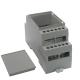 Enclosure Plastic for DIN-Rail 98x35,8x56,4mm grey