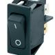 Rocker Switch 27x12 1-0 DPST 16(4)A 250VAC Black F6,3 - O