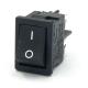 Rocker Switch 19x13 1-0 DPST 10(4)A 250VAC Black F4,8 - O