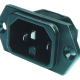 Power Entry Connector C16 Panel 10A 250VAC