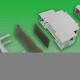 Enclosure Plastic for DIN-Rail 98x22,5x56,4mm grey